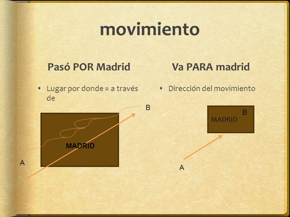movimiento Pasó POR Madrid Va PARA madrid