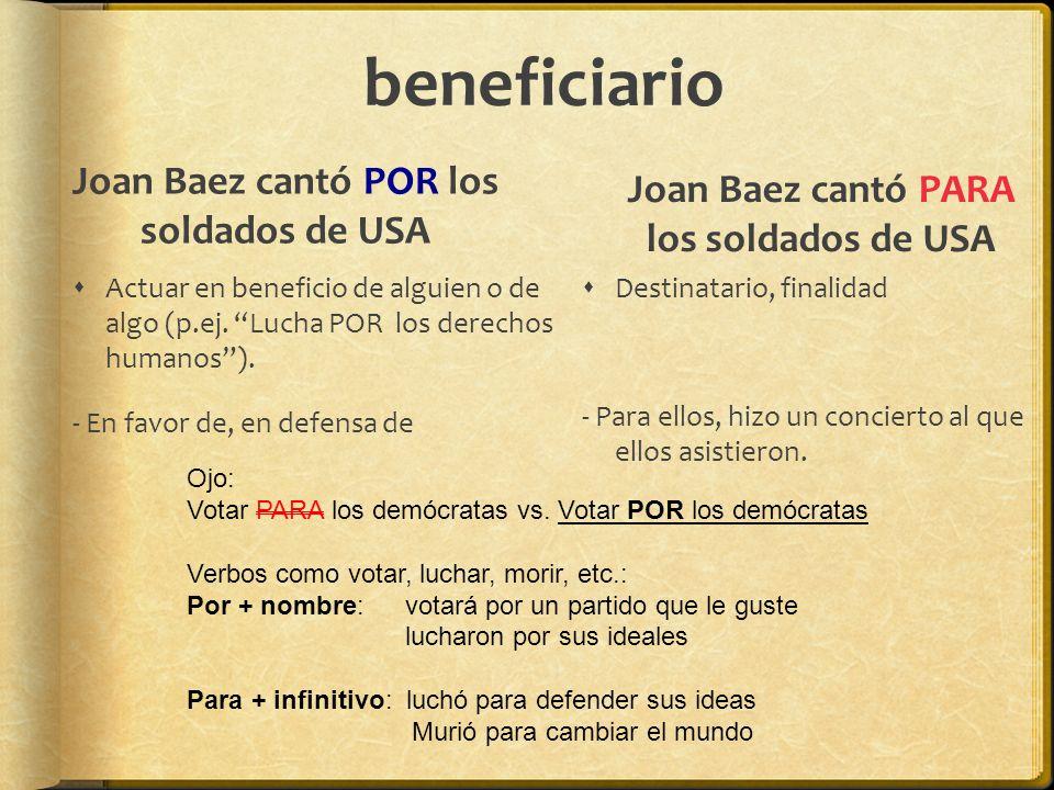 beneficiario Joan Baez cantó POR los soldados de USA