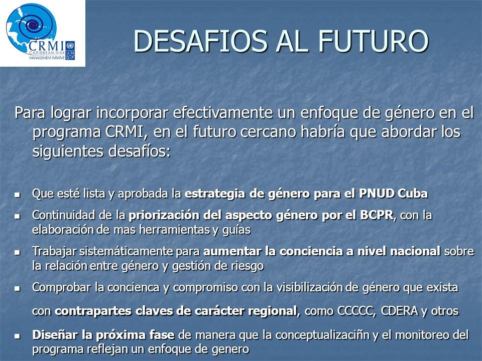 DESAFIOS AL FUTURO