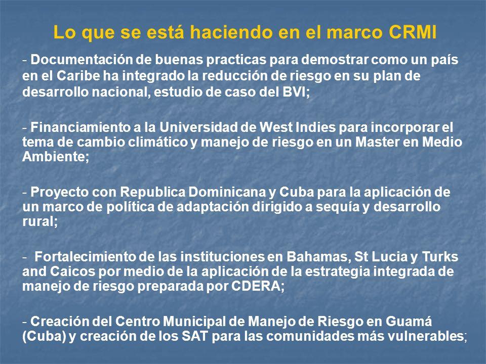 Lo que se está haciendo en el marco CRMI