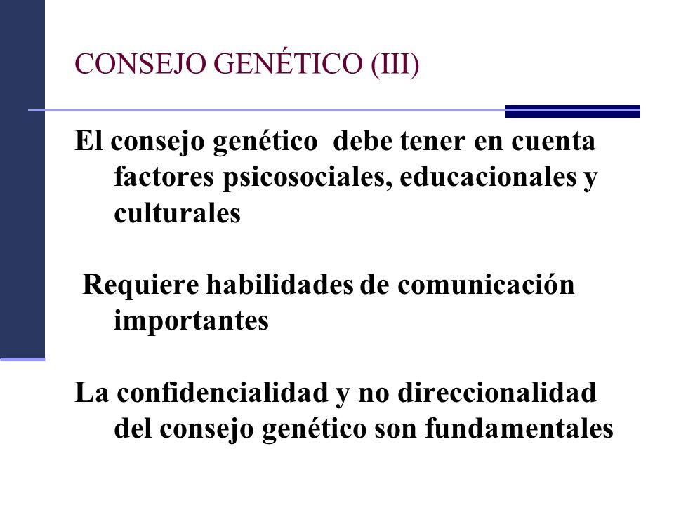 CONSEJO GENÉTICO (III)