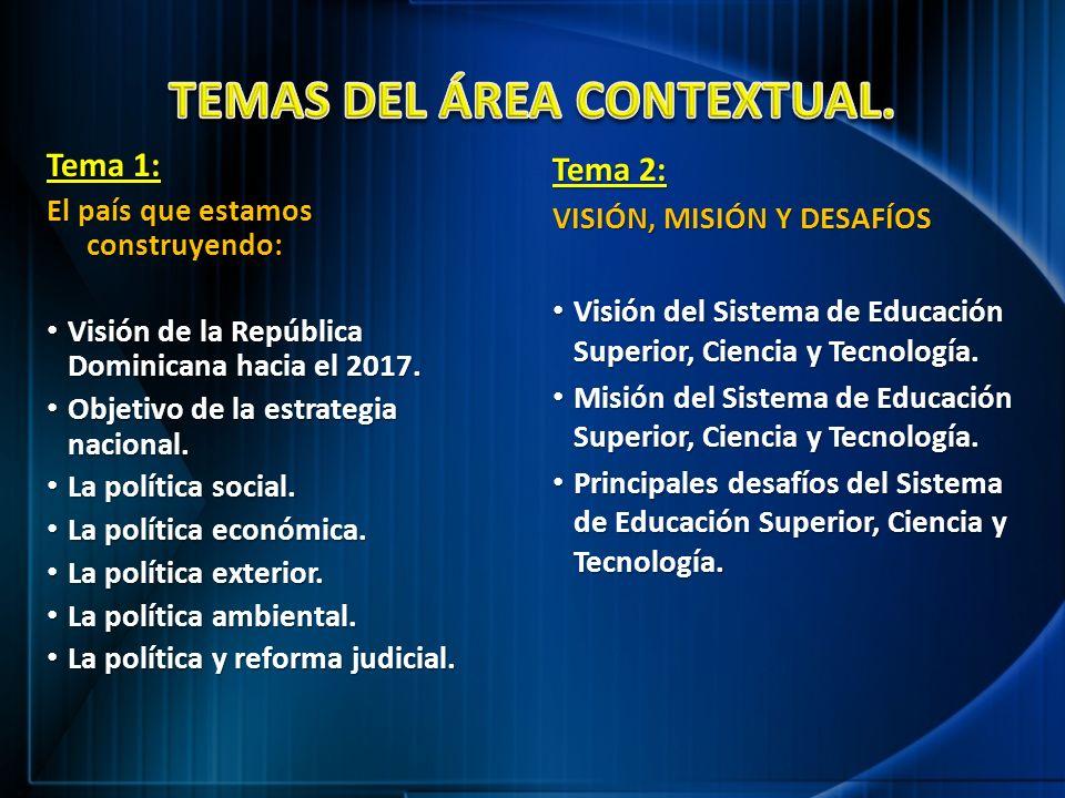 TEMAS DEL ÁREA CONTEXTUAL.