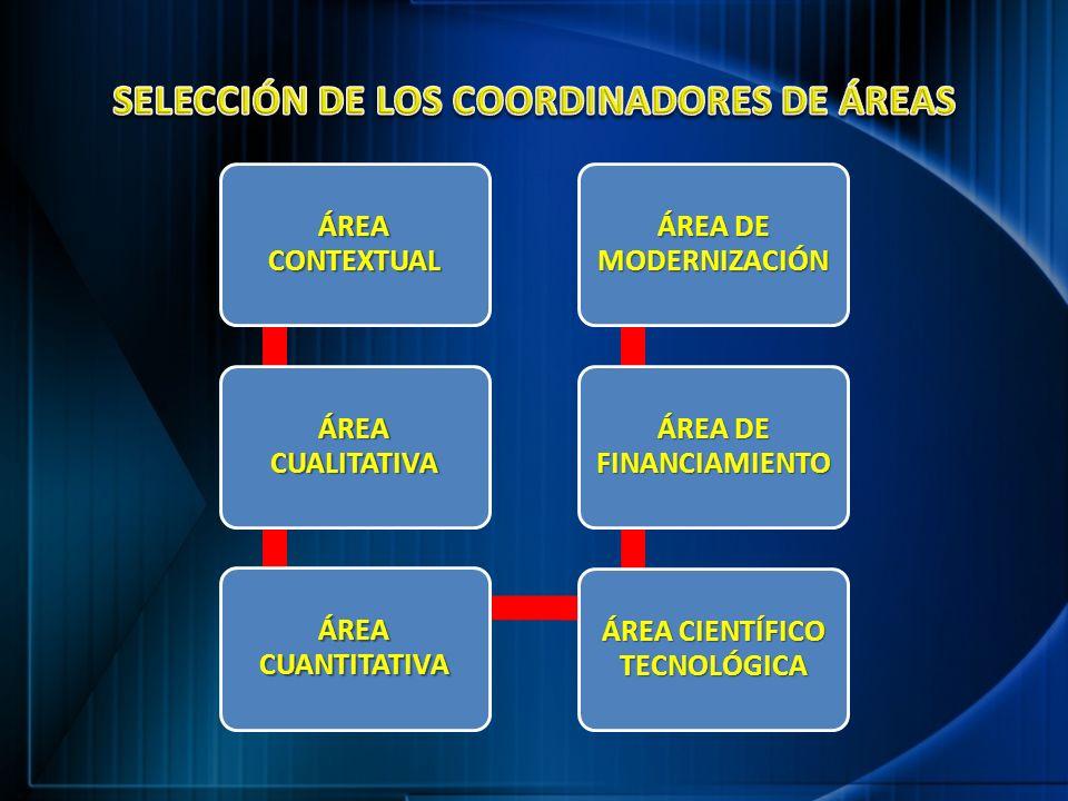 SELECCIÓN DE LOS COORDINADORES DE ÁREAS