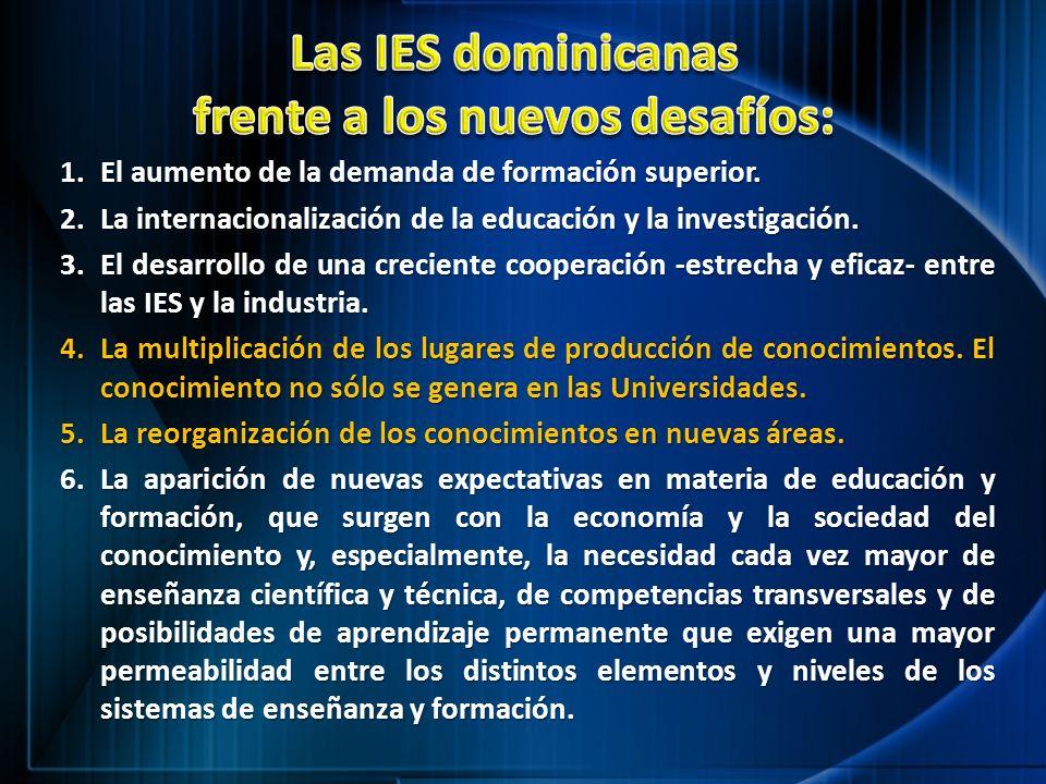 Las IES dominicanas frente a los nuevos desafíos: