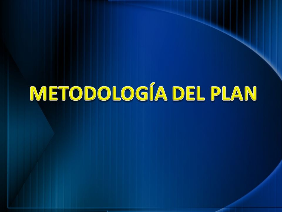 METODOLOGÍA DEL PLAN