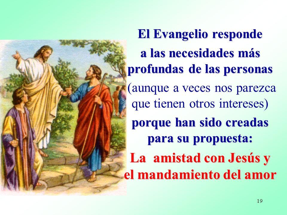 La amistad con Jesús y el mandamiento del amor