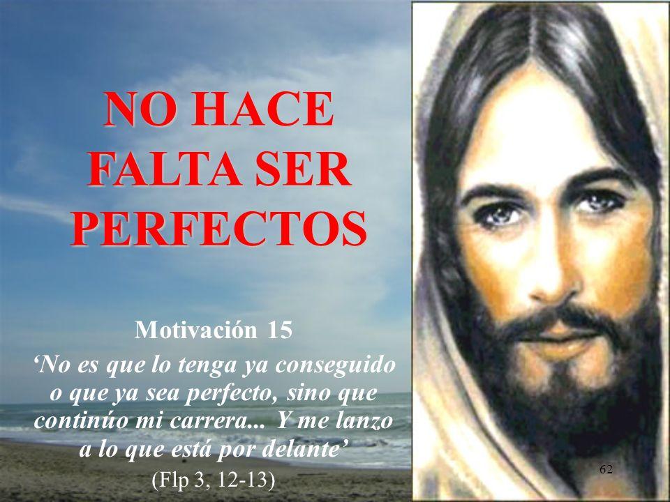 NO HACE FALTA SER PERFECTOS