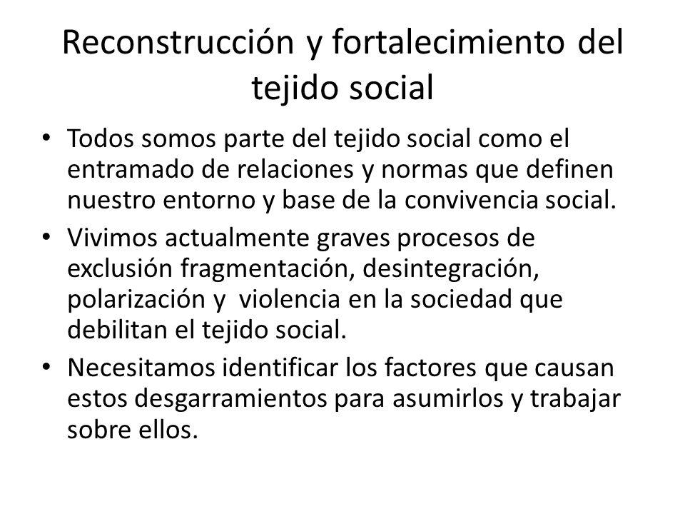Reconstrucción y fortalecimiento del tejido social