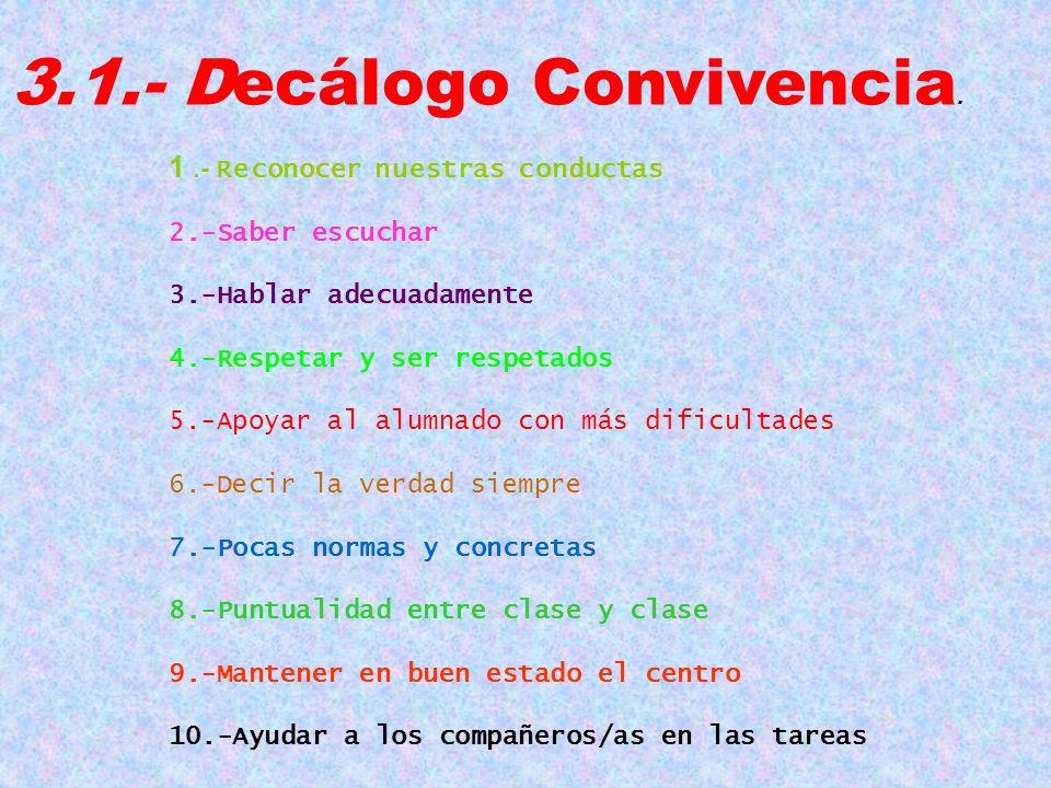 3.1.- Decálogo Convivencia.