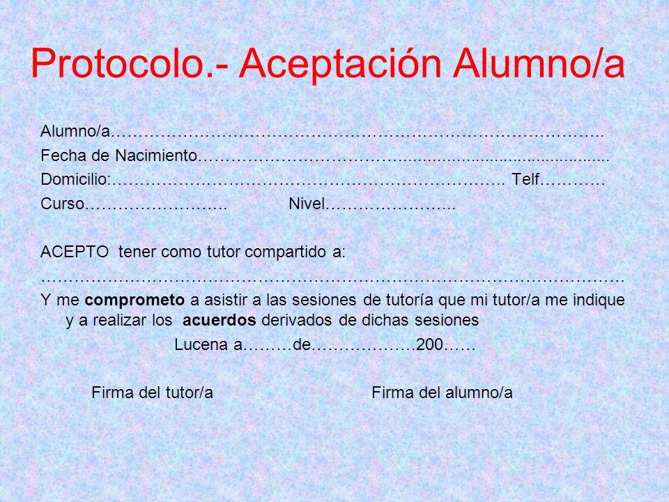 Protocolo.- Aceptación Alumno/a