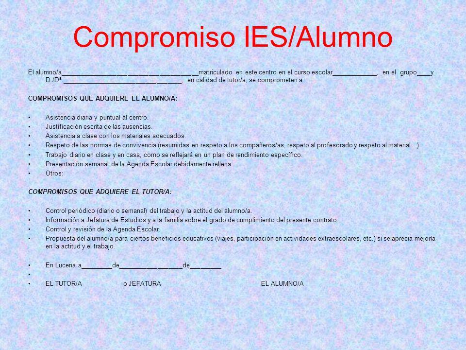 Compromiso IES/Alumno