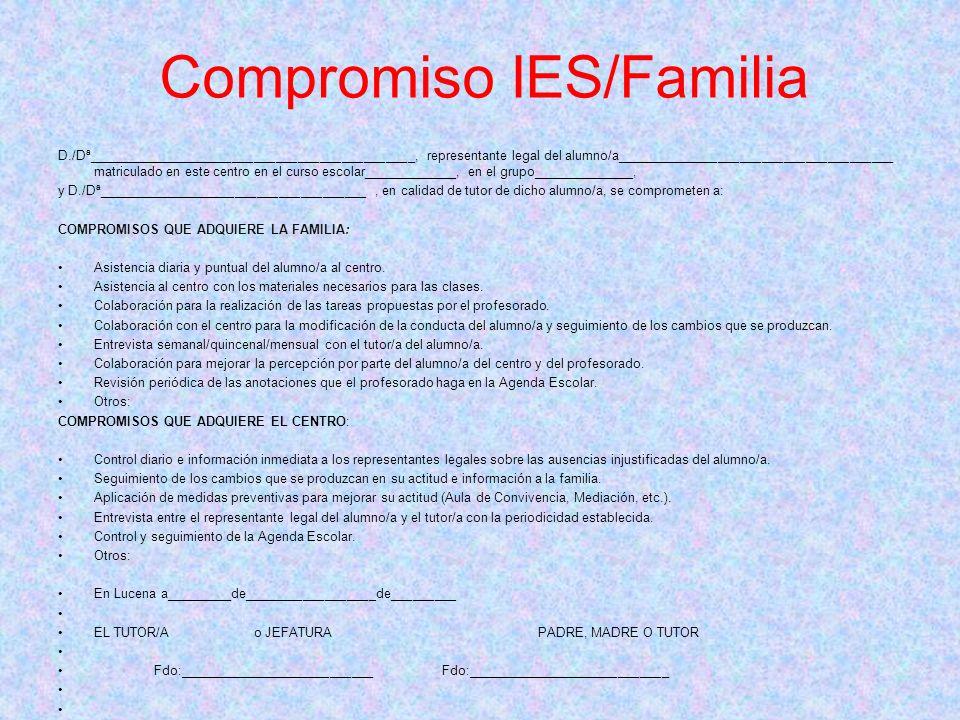 Compromiso IES/Familia