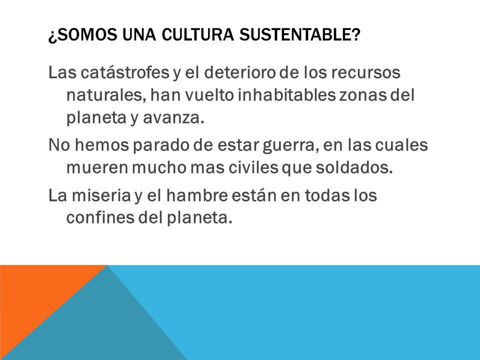 ¿Somos una cultura sustentable