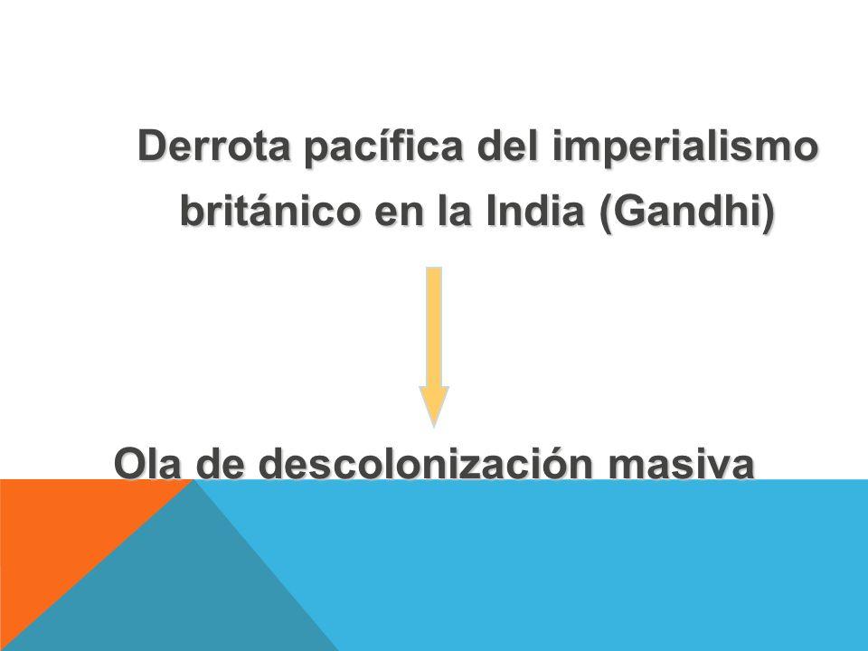 Derrota pacífica del imperialismo británico en la India (Gandhi)