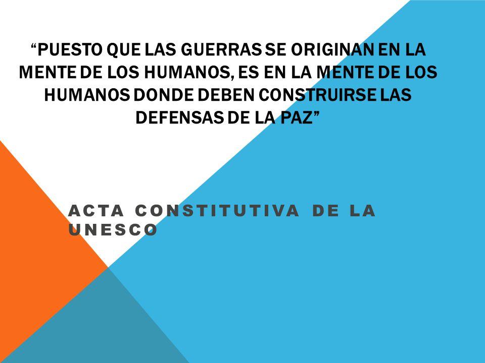 ACTA CONSTITUTIVA DE LA UNESCO