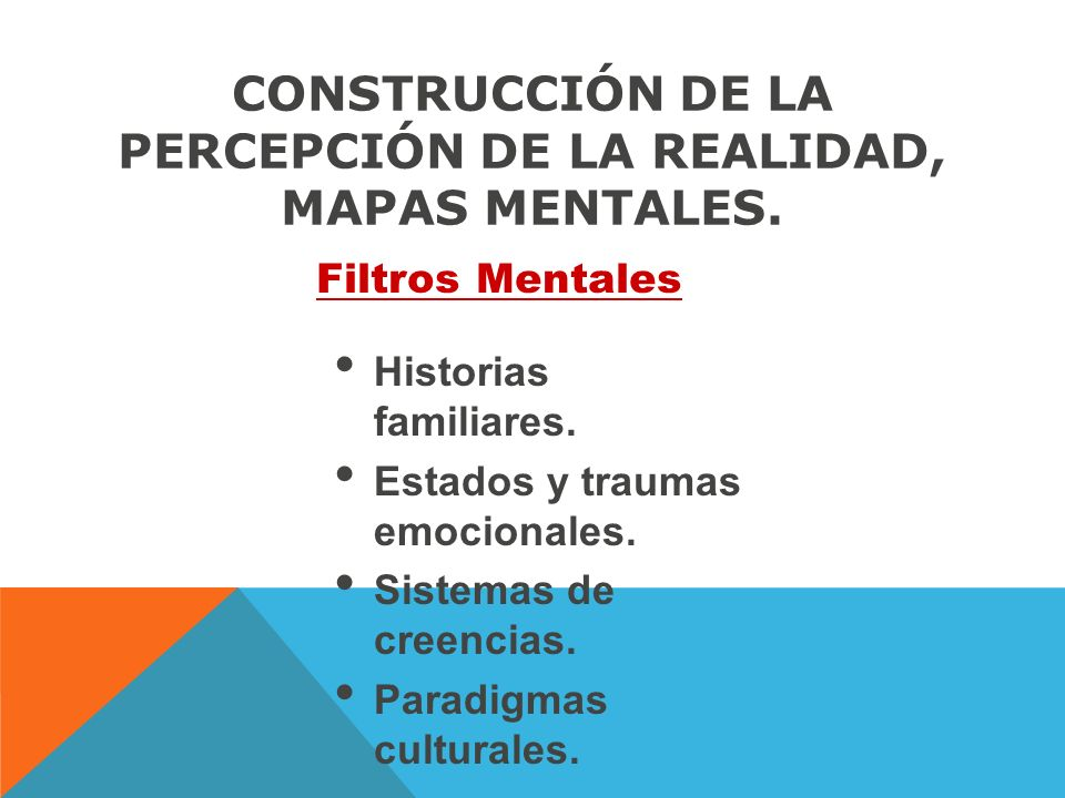 CONSTRUCCIÓN DE LA PERCEPCIÓN DE LA REALIDAD, MAPAS MENTALES.
