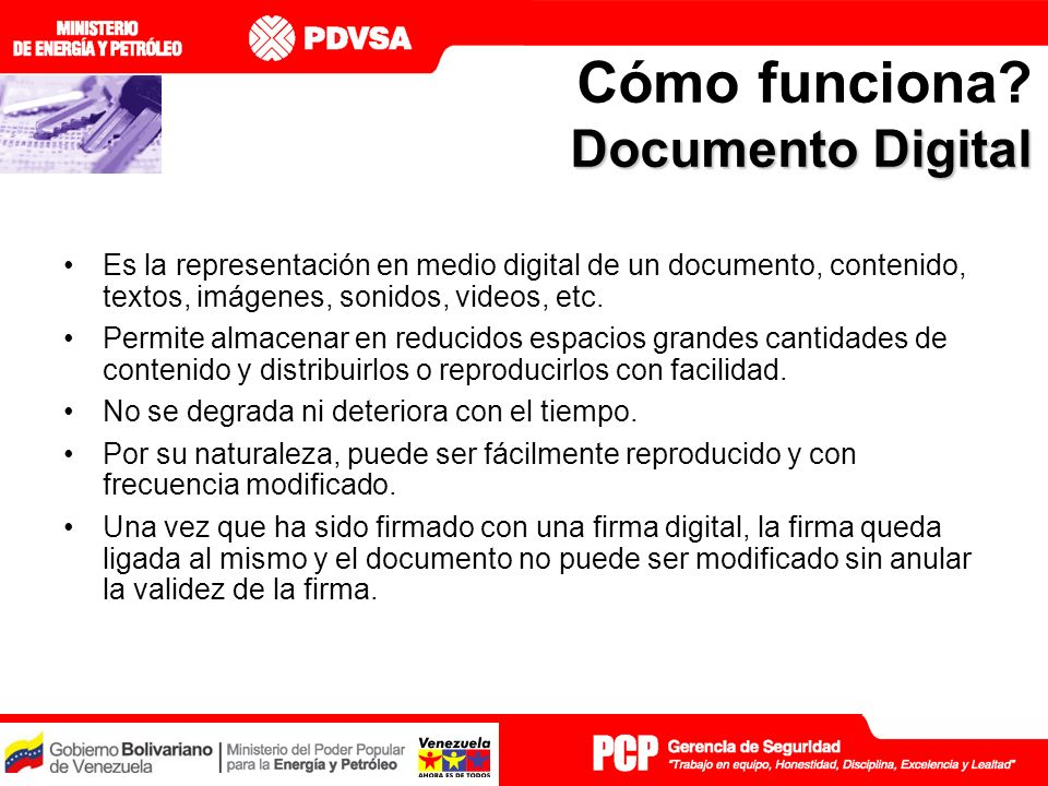 Cómo funciona Documento Digital