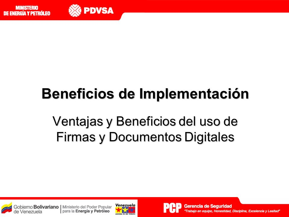Beneficios de Implementación
