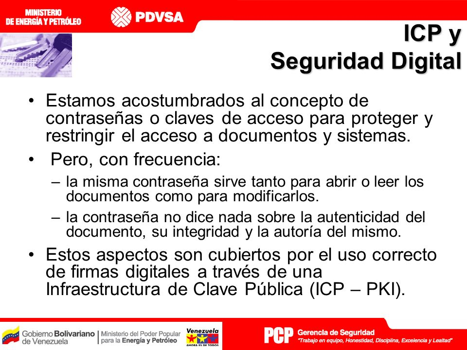 ICP y Seguridad Digital