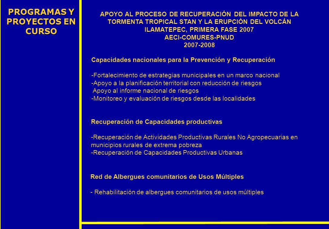 PROGRAMAS Y PROYECTOS EN CURSO