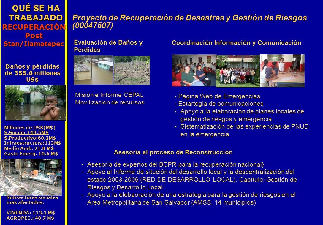 Proyecto de Recuperación de Desastres y Gestión de Riesgos (00047507)