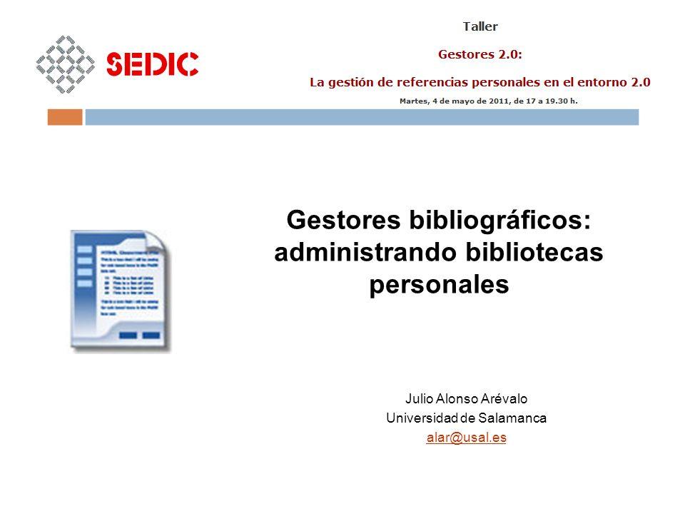 Gestores bibliográficos: administrando bibliotecas personales