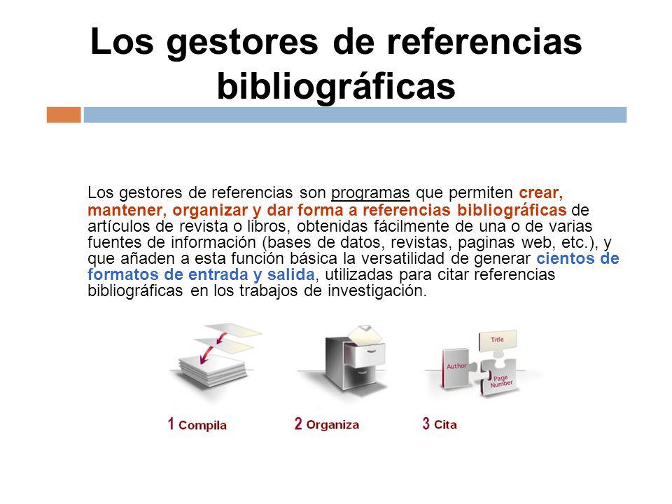 Los gestores de referencias bibliográficas