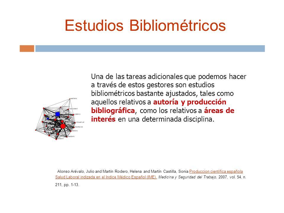Estudios Bibliométricos