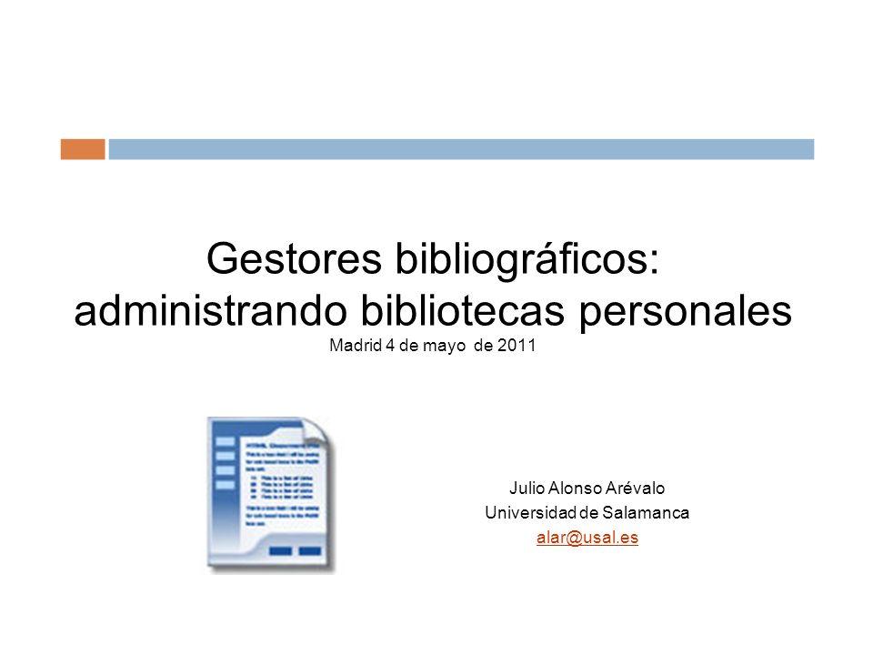 Julio Alonso Arévalo Universidad de Salamanca alar@usal.es