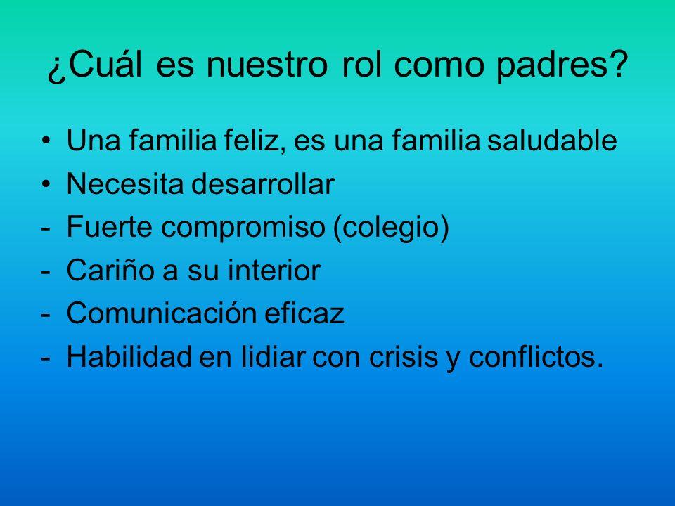 ¿Cuál es nuestro rol como padres