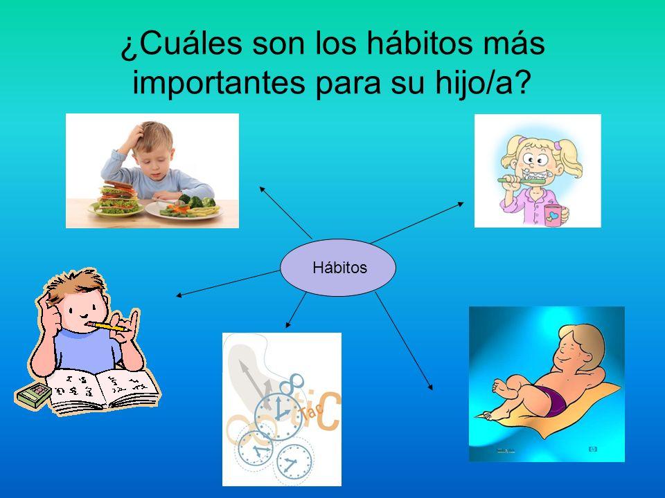 ¿Cuáles son los hábitos más importantes para su hijo/a