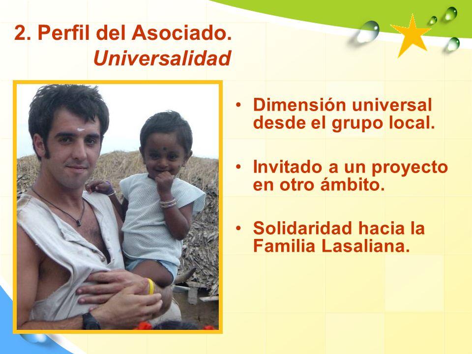 2. Perfil del Asociado. Universalidad