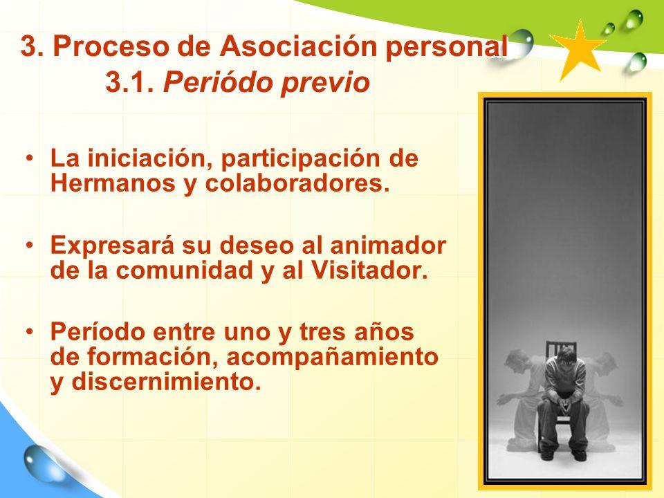 3. Proceso de Asociación personal 3.1. Periódo previo