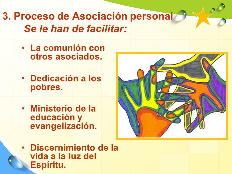 3. Proceso de Asociación personal Se le han de facilitar: