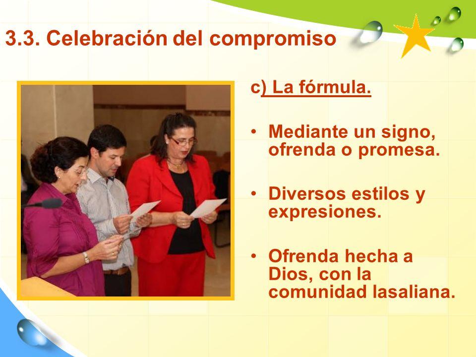 3.3. Celebración del compromiso
