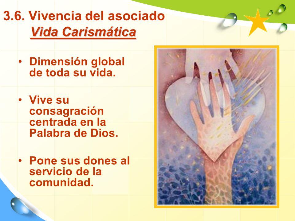 3.6. Vivencia del asociado Vida Carismática