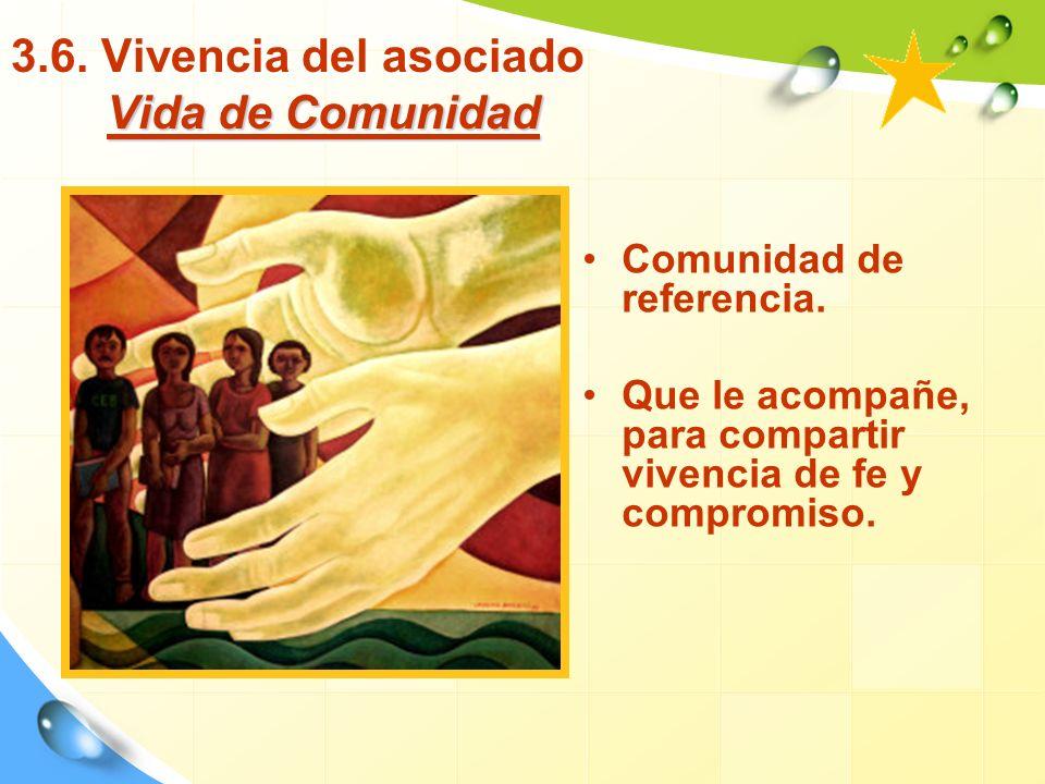 3.6. Vivencia del asociado Vida de Comunidad