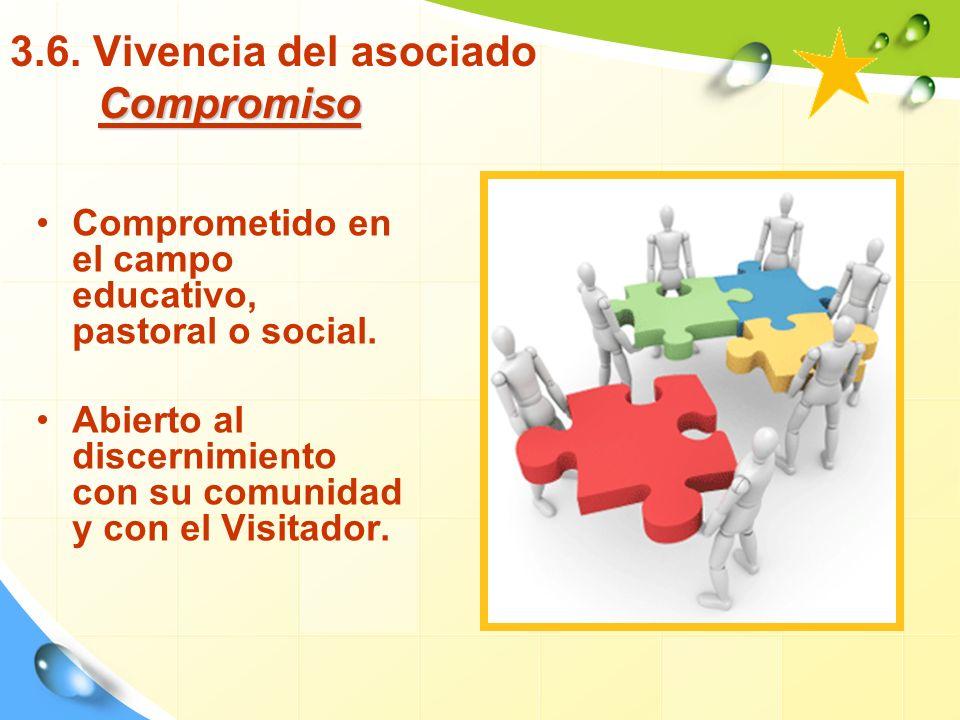 3.6. Vivencia del asociado Compromiso