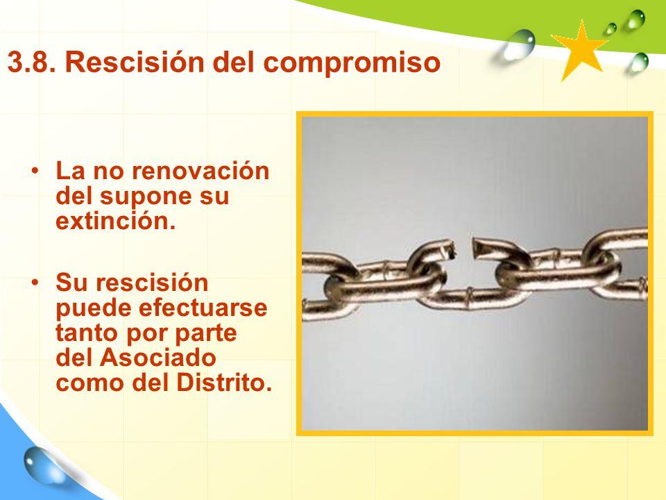 3.8. Rescisión del compromiso