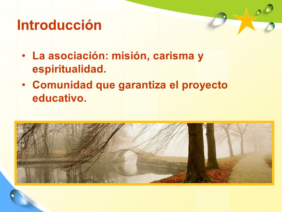 Introducción La asociación: misión, carisma y espiritualidad.