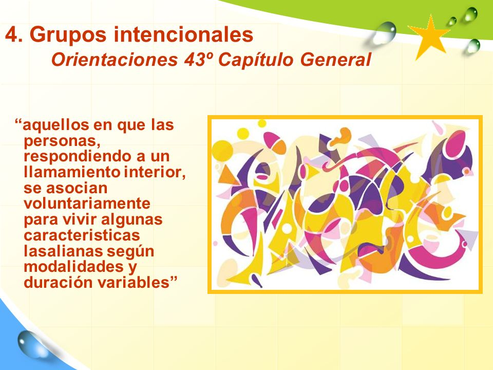 4. Grupos intencionales Orientaciones 43º Capítulo General