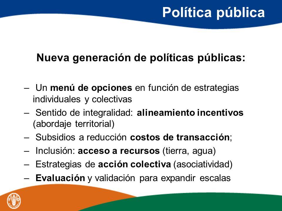 Nueva generación de políticas públicas: