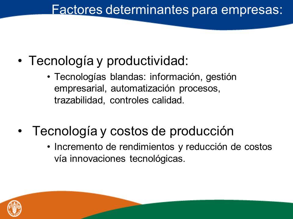 Factores determinantes para empresas: