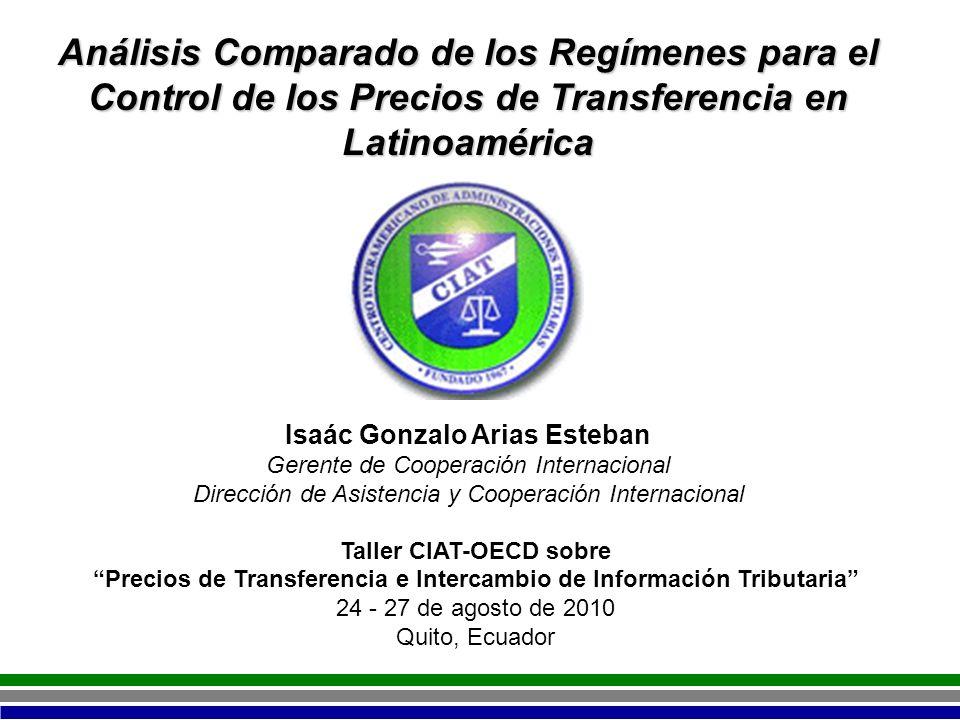 Análisis Comparado de los Regímenes para el Control de los Precios de Transferencia en Latinoamérica