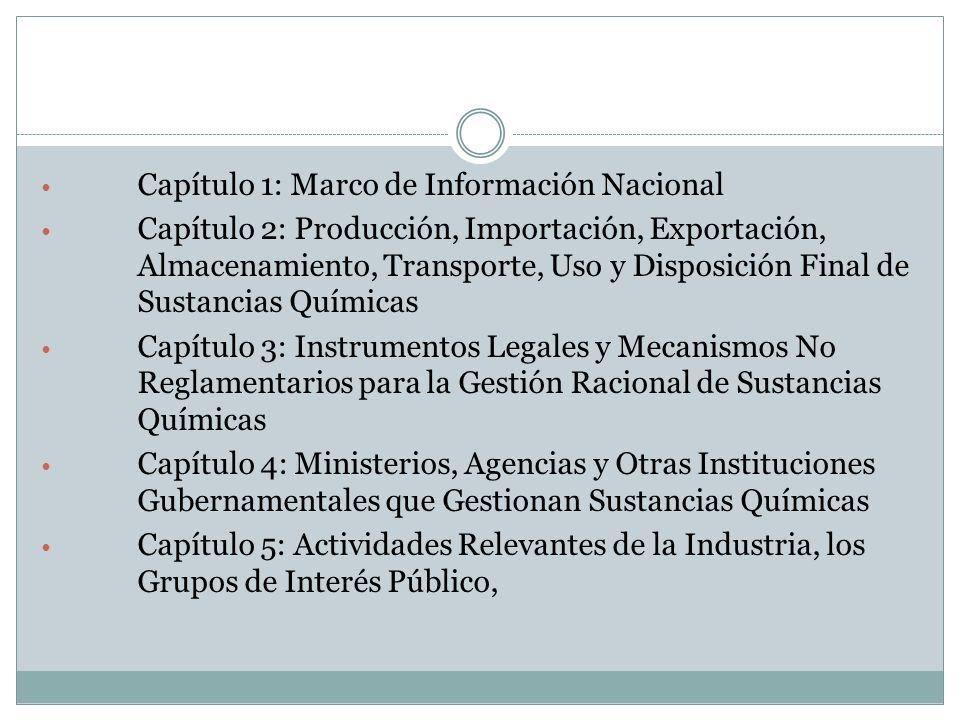 Capítulo 1: Marco de Información Nacional