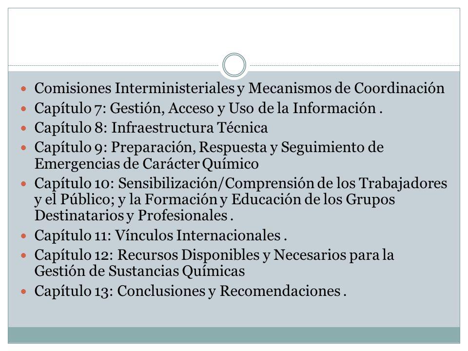 Comisiones Interministeriales y Mecanismos de Coordinación