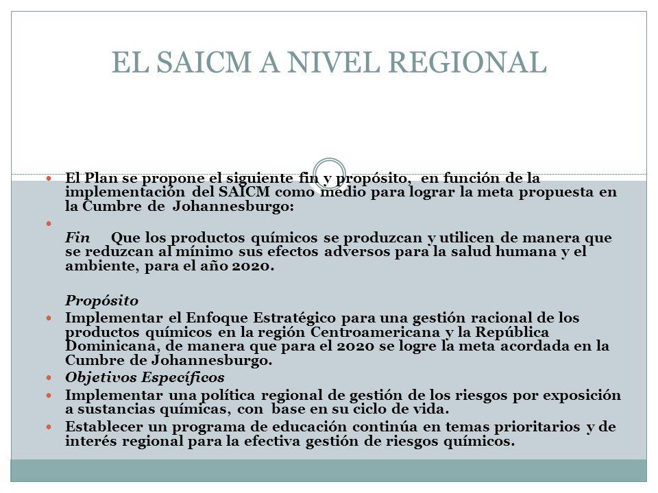 EL SAICM A NIVEL REGIONAL
