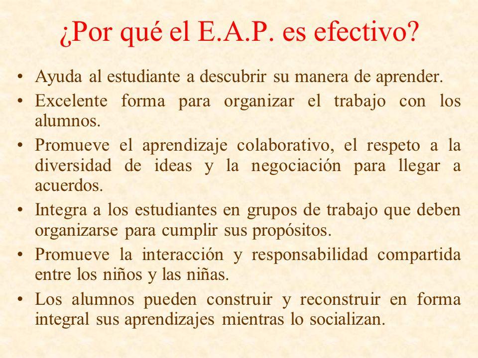 ¿Por qué el E.A.P. es efectivo