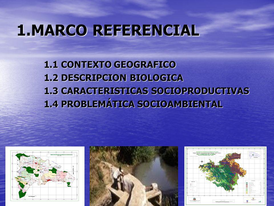 1.MARCO REFERENCIAL 1.1 CONTEXTO GEOGRAFICO 1.2 DESCRIPCION BIOLOGICA
