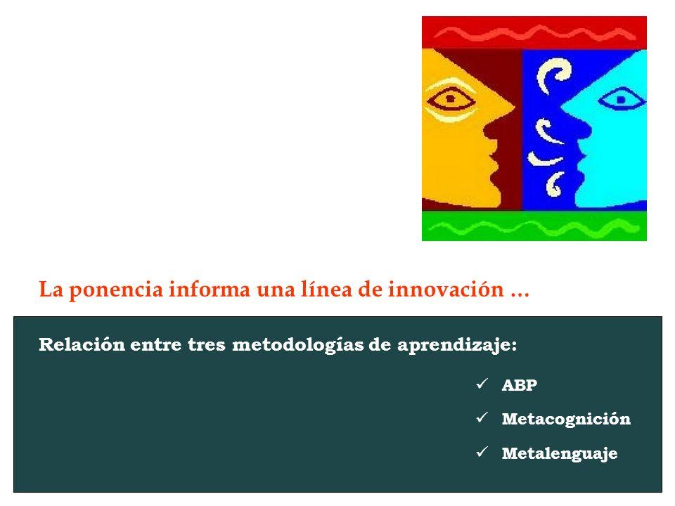 La ponencia informa una línea de innovación …